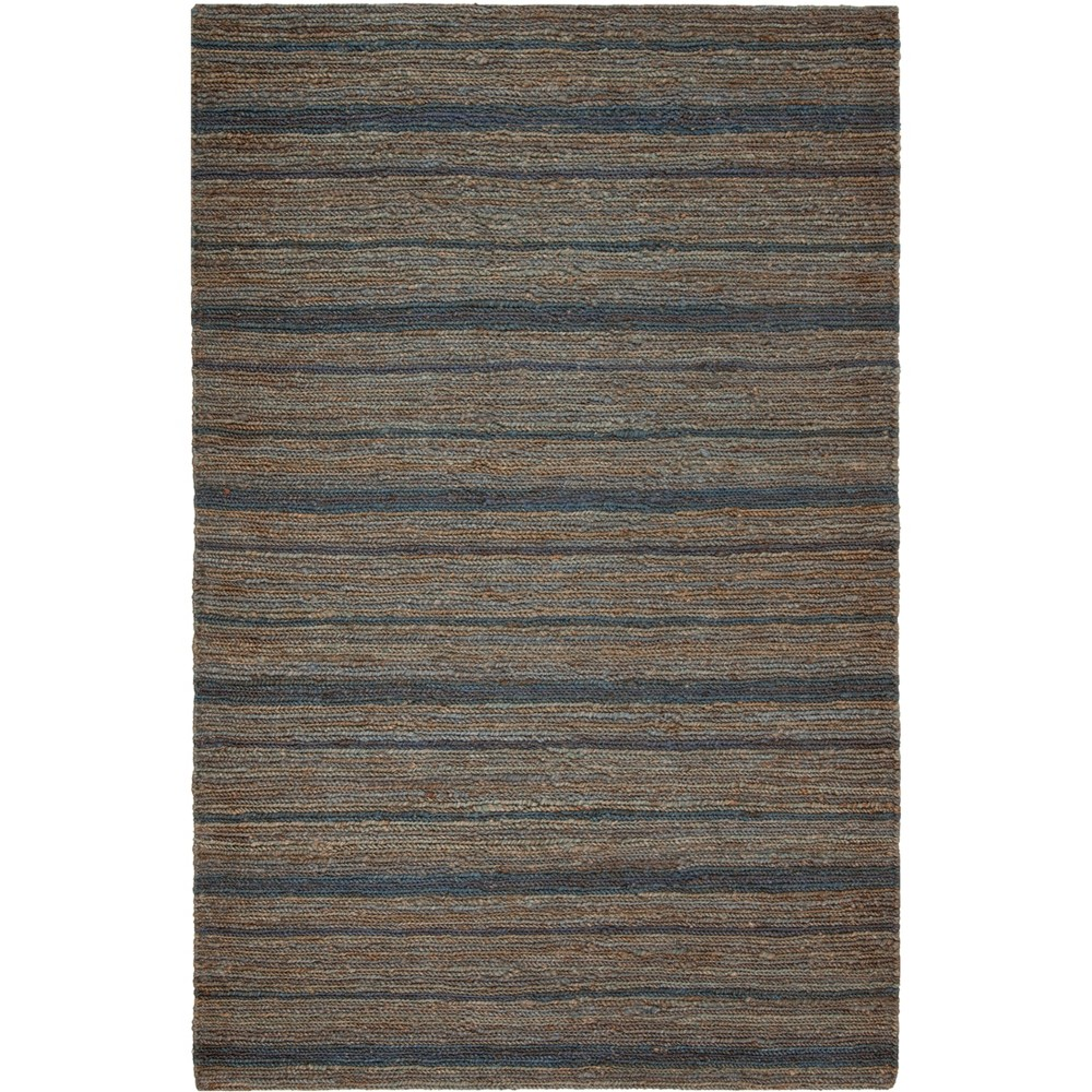 3X5 Stripe Knotted Accent Rug Blue/Light Gray - Safavieh Price