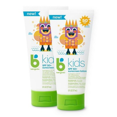 Babyganics Kids' Sunscreen Lotion - SPF 50 - 2ct/6 fl oz
