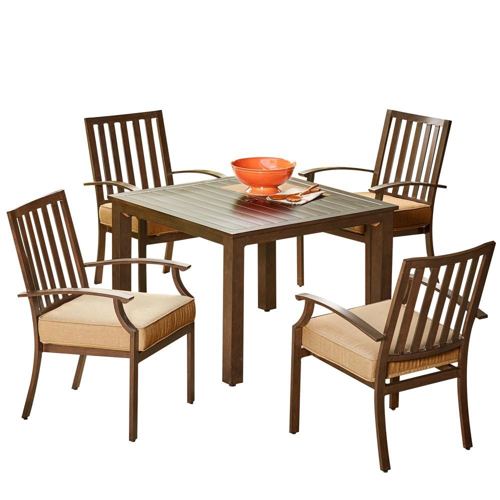 Image of 5pc Bridgeport Dining Set Tan - Royal Garden
