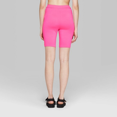 cb11d92a1e Women s High-Rise Bike Shorts - Wild Fable™ Neon Pink. Shop all Wild Fable