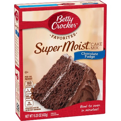 Baking Mixes: Betty Crocker Super Moist Favorites Chocolate Fudge Cake Mix