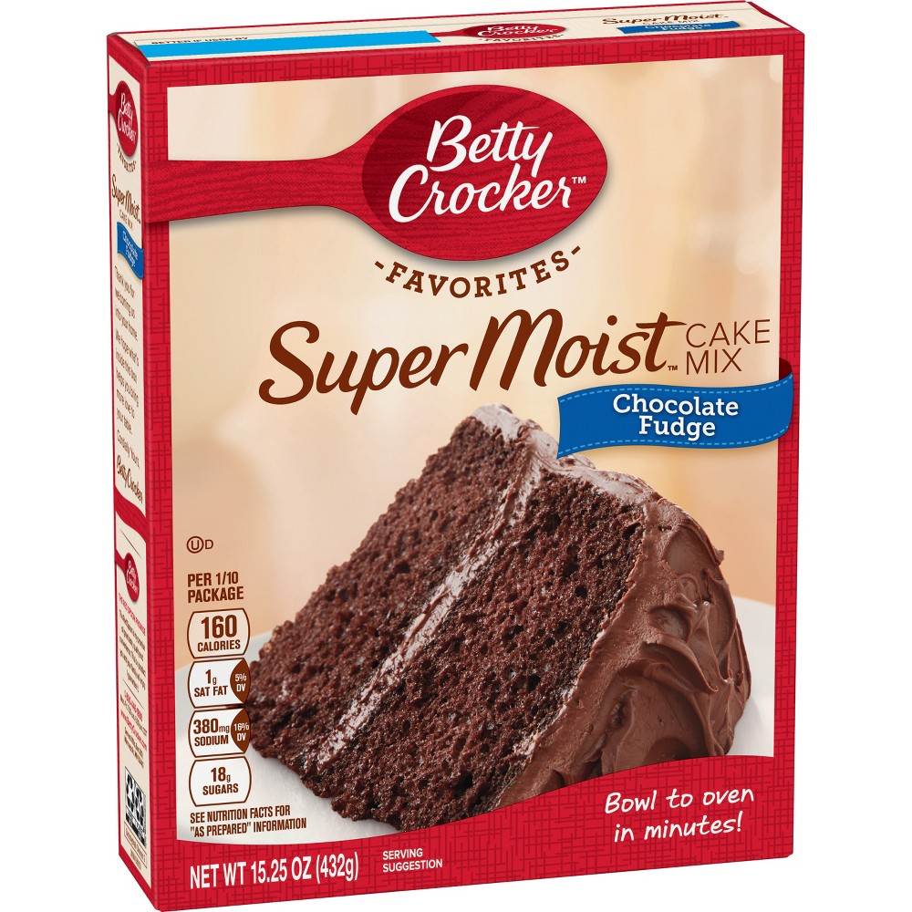 Betty Crocker Super Moist Chocolate Fudge Cake Mix - 15.25oz