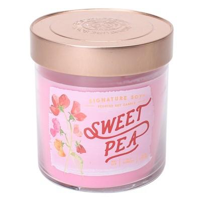 15.2oz Lidded Glass Jar 2-Wick Candle Sweet Pea - Signature Soy