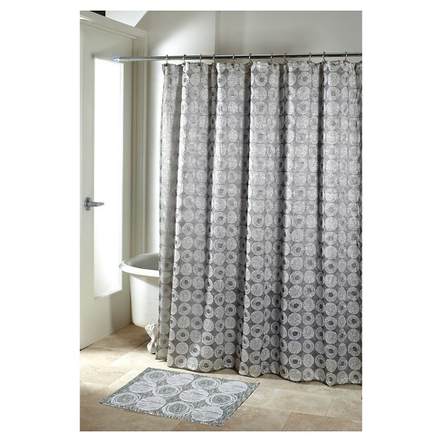Galaxy Shower Curtain Silver