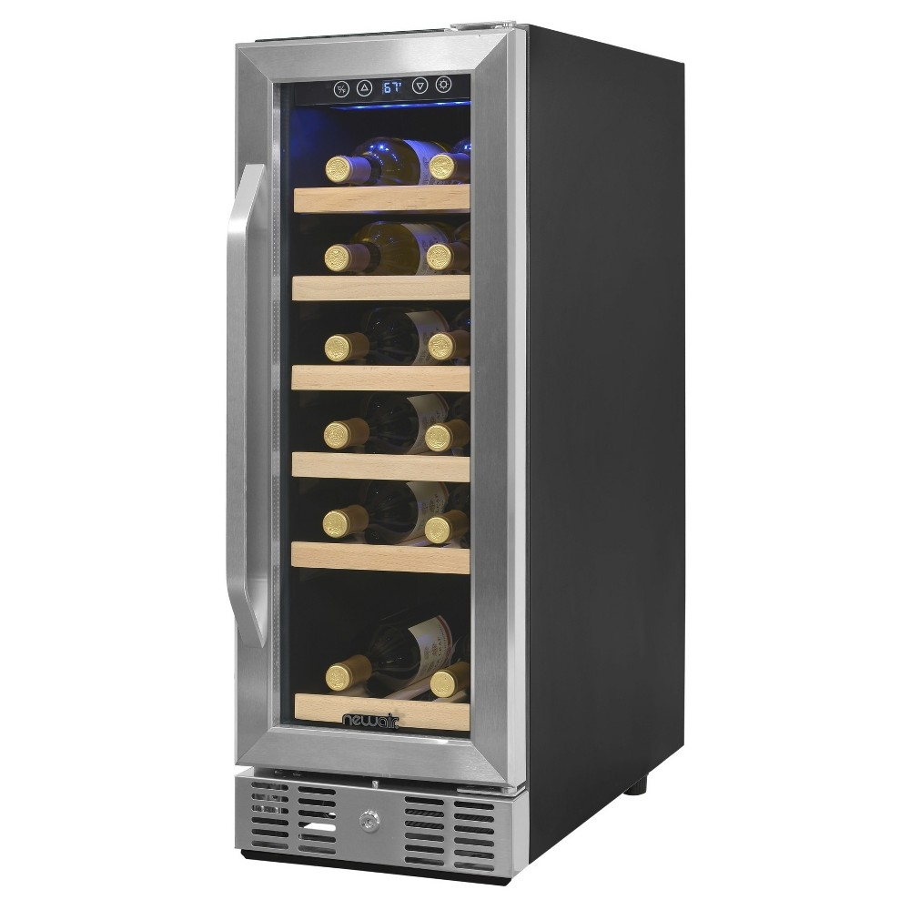 NewAir 19 Bottle Compressor Wine Cooler – Stainless Steel (Silver) Awr-190SB 52510919