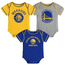 NBA Golden State Warriors Baby Boys' Rookie Bodysuit Set 3pk