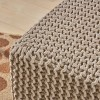 Tessie Knitted Foot Stool - Christopher Knight Home - image 3 of 4