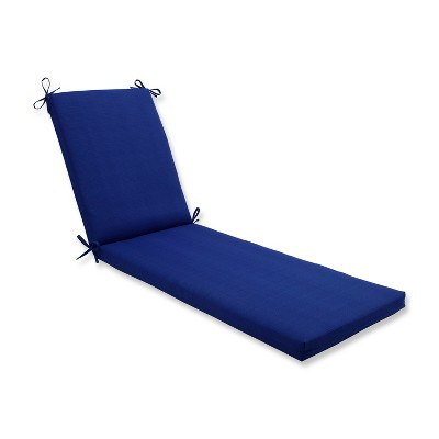Indoor/Outdoor Fresco Navy Chaise Lounge Cushion - Pillow Perfect