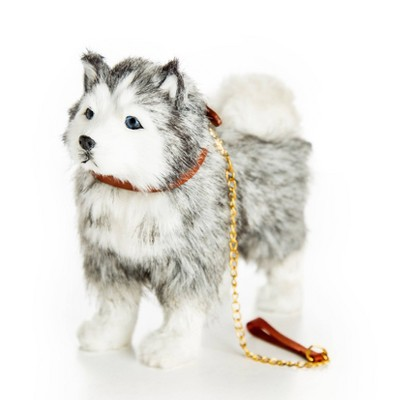 """The Queen's Treasures 18"""" Doll Pet Accessory - Husky Dog with Collar & Leash"""