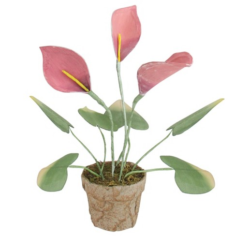 """Northlight 19"""" Pink/Green Calla Lily Flower Artificial Spring Plant - image 1 of 2"""