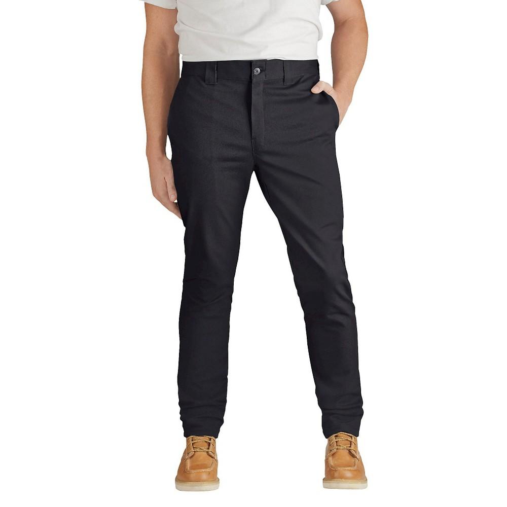 Dickies Men's Slim Skinny Fit Flex Twill Pants- Black 33x34