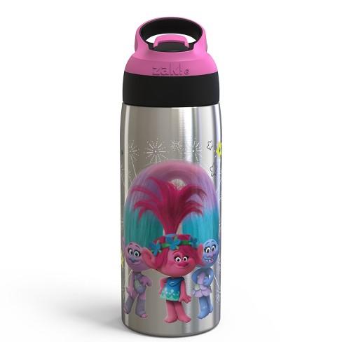 Trolls 19oz Stainless Steel Water Bottle Pink/Black - Zak Designs - image 1 of 2