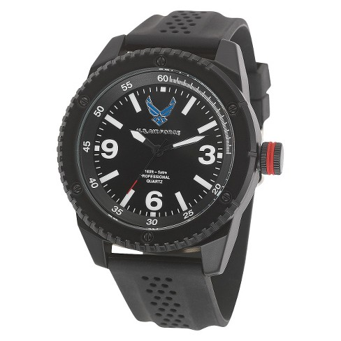 Men's' Wrist Armor U.S. Air Force C20 Analog Quartz Watch - Black - image 1 of 5