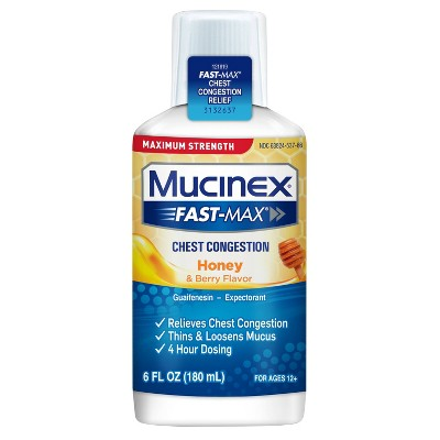 Mucinex Fast-Max Chest Congestion Liquid - Honey & Berry - 6 fl oz