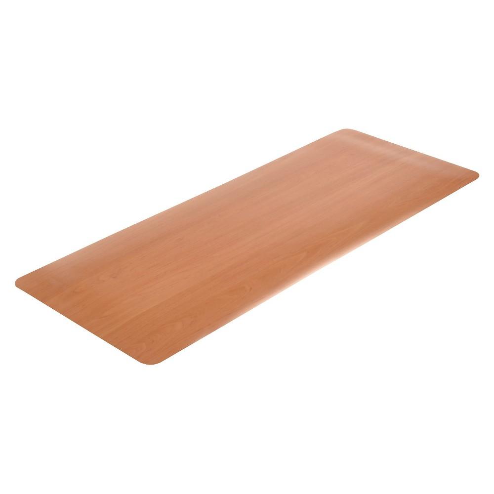 """Image of """"Oak Solid Doormat - (1'6""""""""X3'10"""""""") - HomeTrax, Brown"""""""