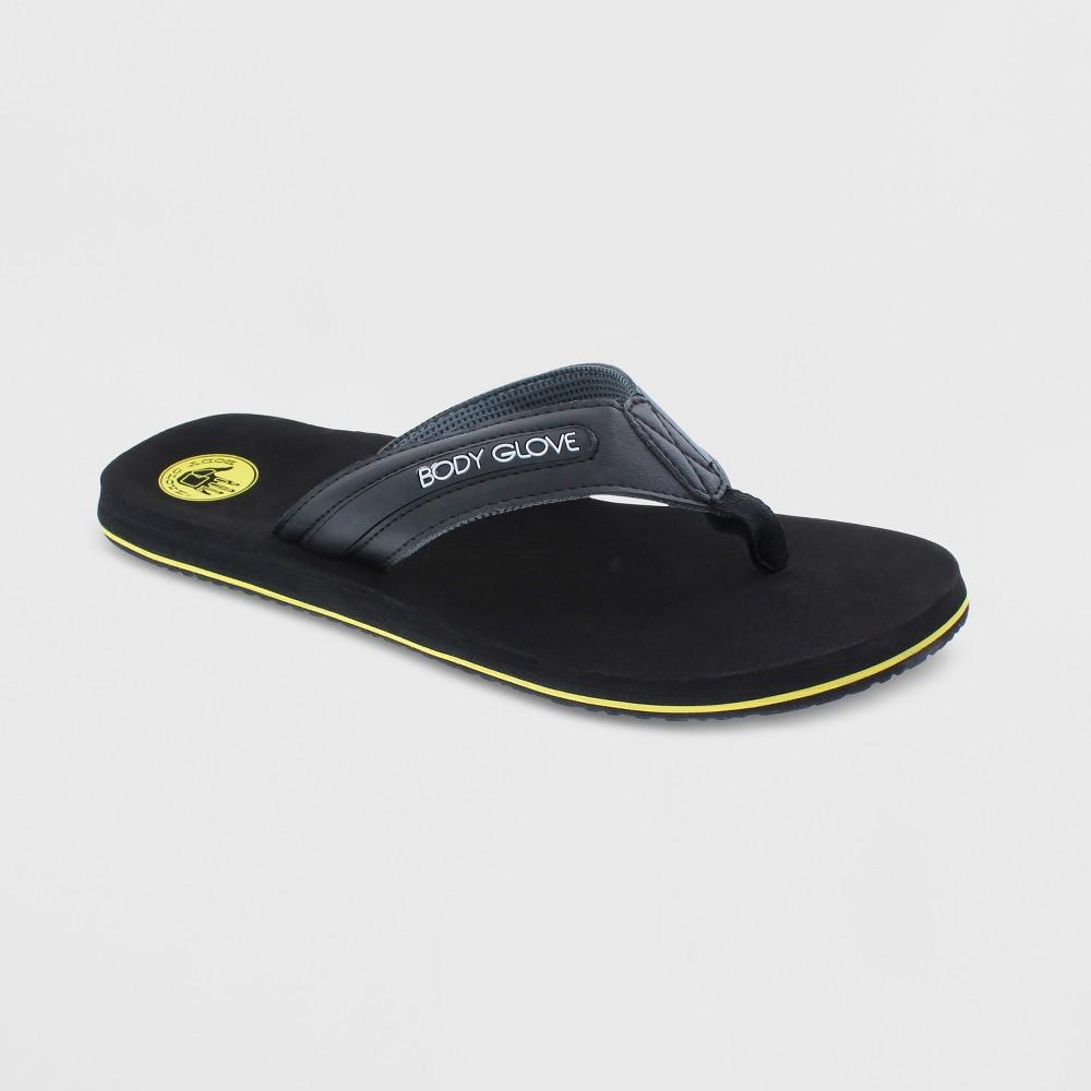 Image of Men's Body Glove Fathom Flip Flop Sandals - Black 10, Yellow Black