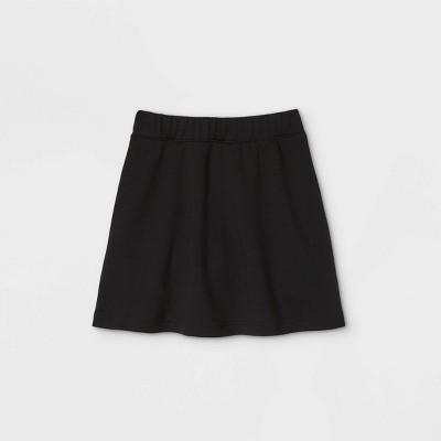Girls' Pull-On Uniform Knit Skater Skorts - Cat & Jack™ Black