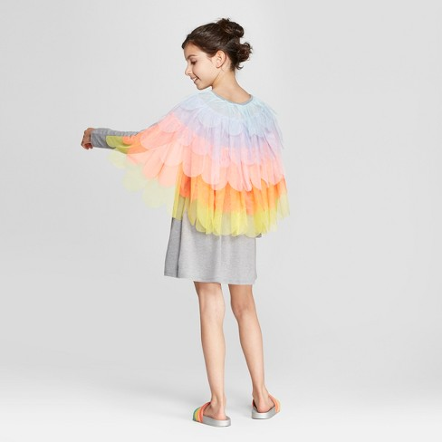 06c2dc42a7 Girls' Grey Sparkle Dress With Tulle Cape - Cat & Jack™ : Target