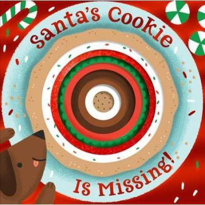 Santa's Cookie Is Missing! (Board Book with Die-Cut Reveals)- by Houghton Mifflin Harcourt