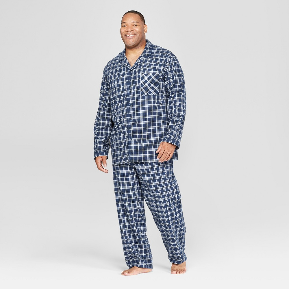 Men's Tall Plaid Woven Pajama Set - Goodfellow & Co Federal Blue 2XLT