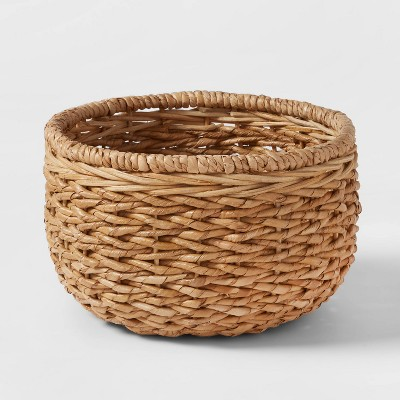 151.3oz Chunky Seagrass Woven Serving Bowl Beige - Threshold™