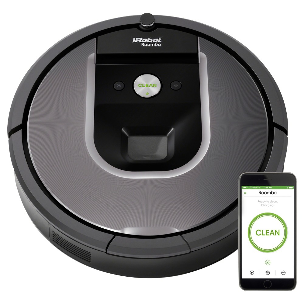 Image of iRobot Roomba 960 Wi-Fi Robot Vacuum, Dark Grey