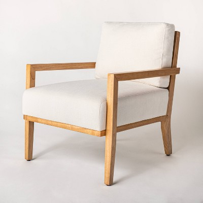 Agoura Hills Cane Back Accent Chair Cream/Natural Wood - Threshold™ designed with Studio McGee