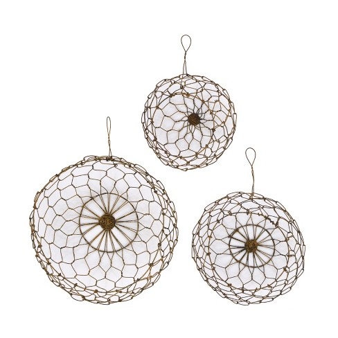 Wire Hanging Baskets Set of 3 - 3R Studios - image 1 of 2