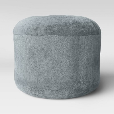 Character Pouf Round Faux Fur Gray - Pillowfort™