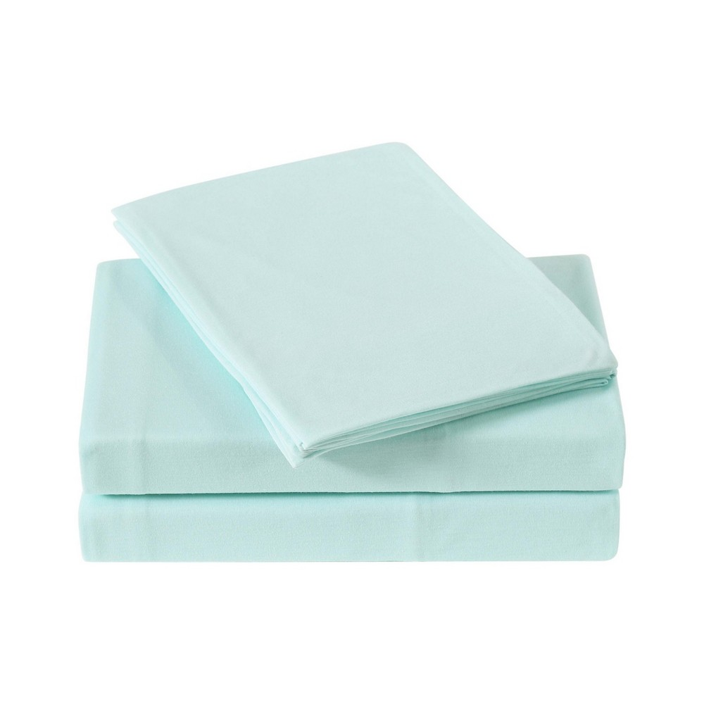 Image of Full Anytime Jersey Sheet Set Aqua (Blue) - My World