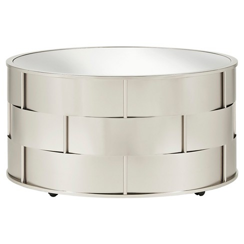 Lovenia Mirrored Top Cocktail Table Nickel - Inspire Q - image 1 of 4