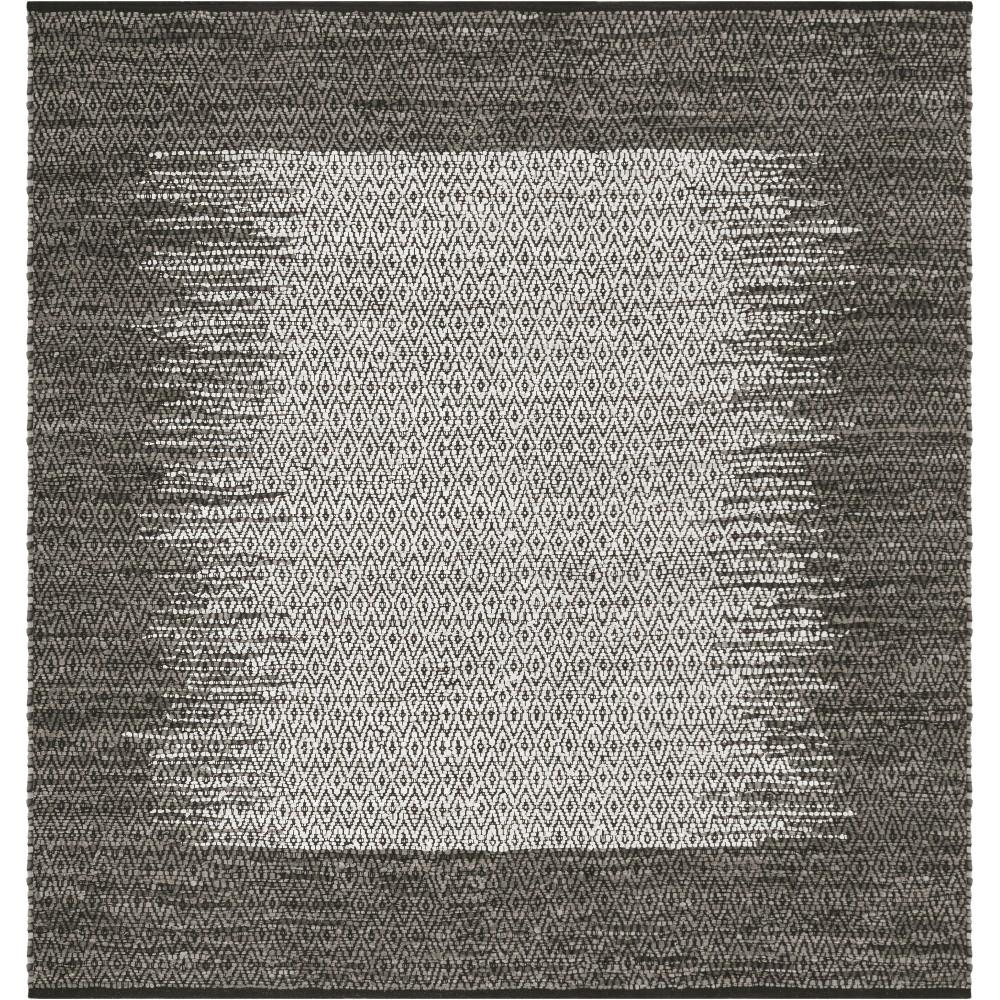 6X6 Geometric Woven Square Area Rug Gray - Safavieh Compare