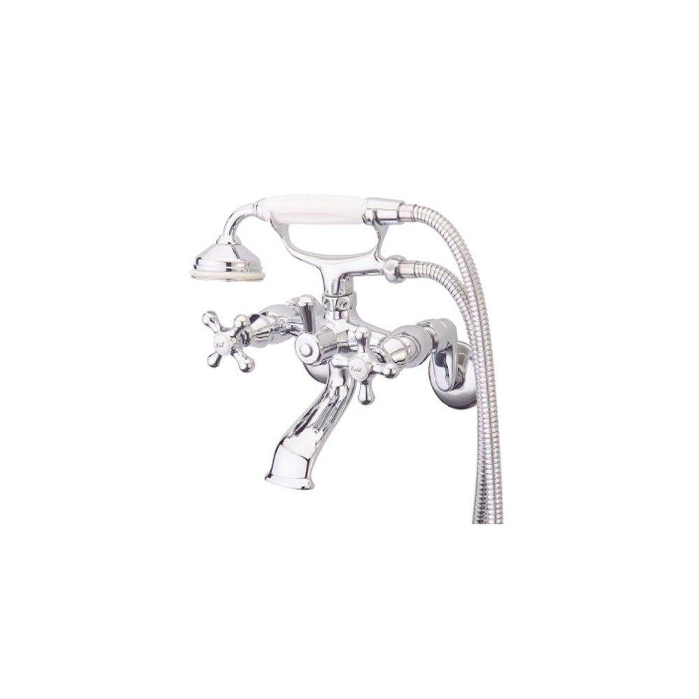Wall Mounted Tub Faucet Chrome (Grey) - Kingston Brass