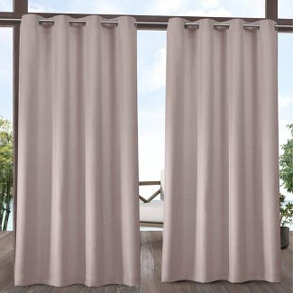 """108""""x54"""" Biscayne Grommet Top Light Filtering Window Curtain Panels Blush Pink - Exclusive Home"""