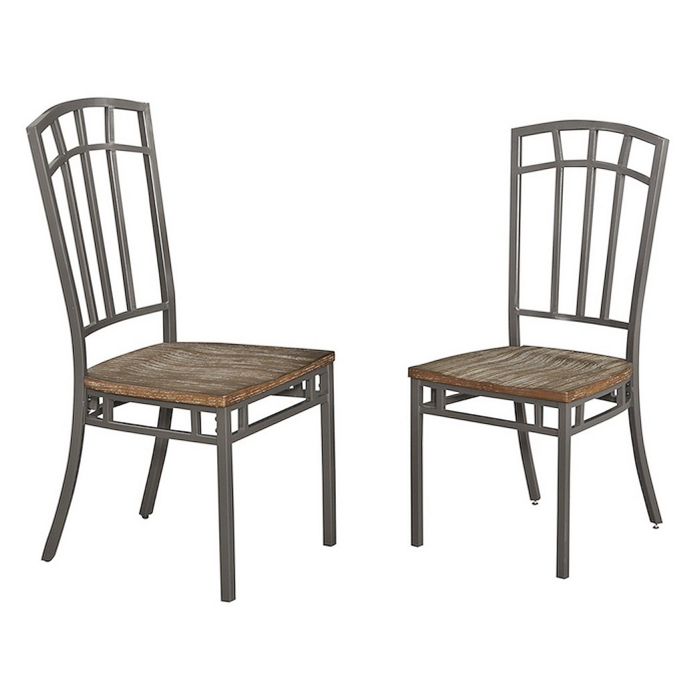 Set of 2 Barnside Metro Pair of Dining Chairs Gray - Home Styles