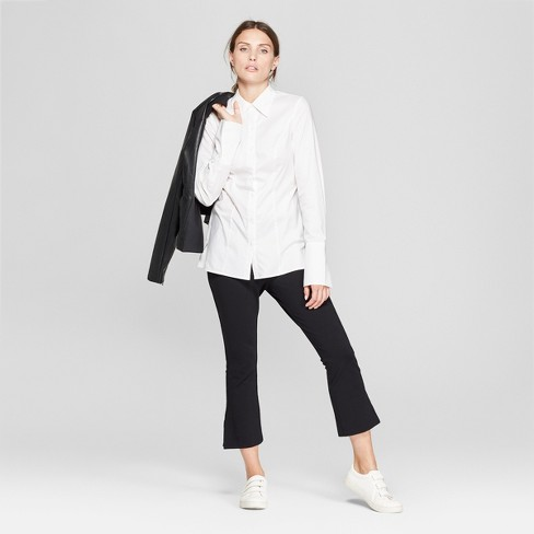 3290bff1 Women's Long Sleeve Fitted Button-Down Collared Shirt - Prologue ...