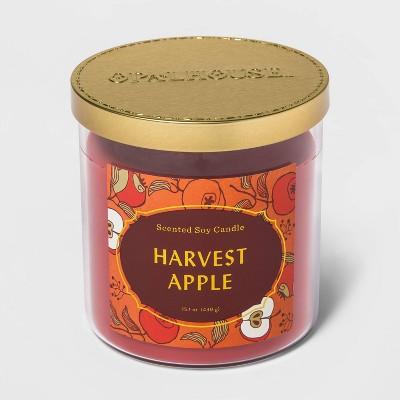 15.1oz Lidded Glass Jar 2-Wick Harvest Apple Candle - Opalhouse™