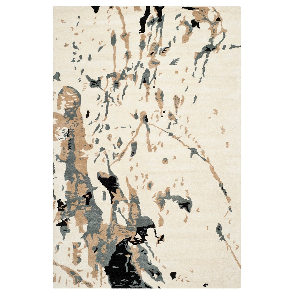 Forrest Area Rug Ivory/Gray 6'x9' - Safavieh, White Gray