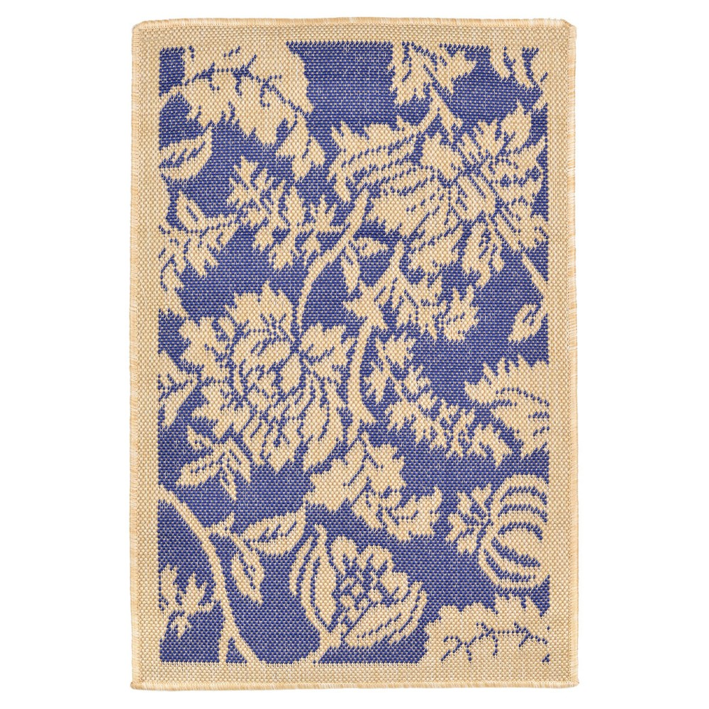 Terrace Indoor/Outdoor Floral Marine Rug 23
