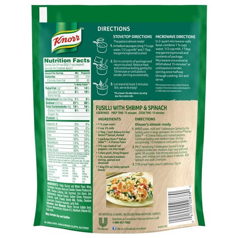 Knorr Italian Sides Four Cheese Pasta Target