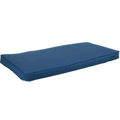 """Sunnydaze Indoor/Outdoor Weather-Resistant Olefin Replacement Bench or Patio Swing Seat Cushion - 41 x 18"""" - Blue"""""""