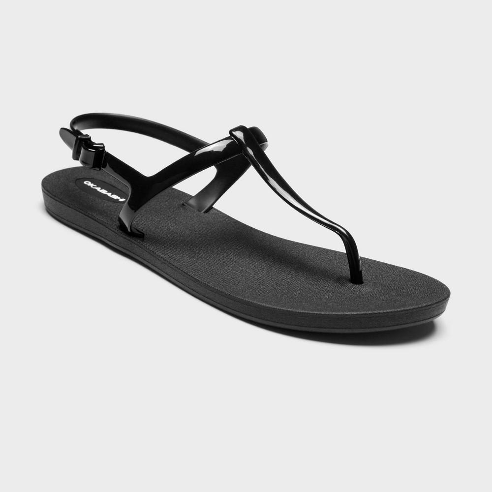 Women's Path T Strap Sandals - Okabashi Black 8