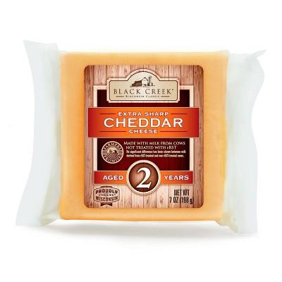 Black Creek Extra Sharp Cheddar Cheese Aged 2 Years - 7oz