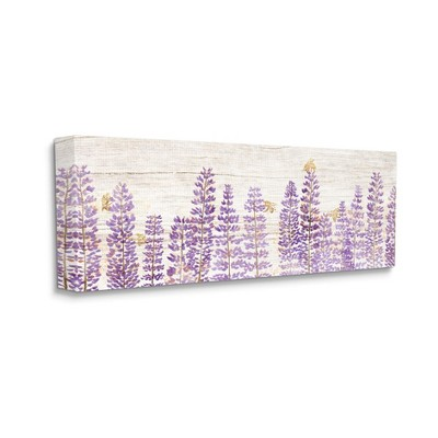 Stupell Industries Rustic Purple Lilac Florals and Honey Bees
