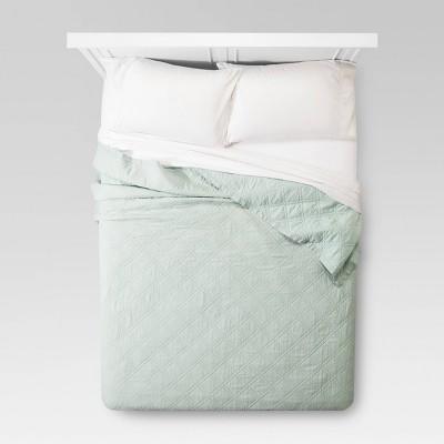 Mint Green Linen Quilt (Full/Queen)- Threshold™