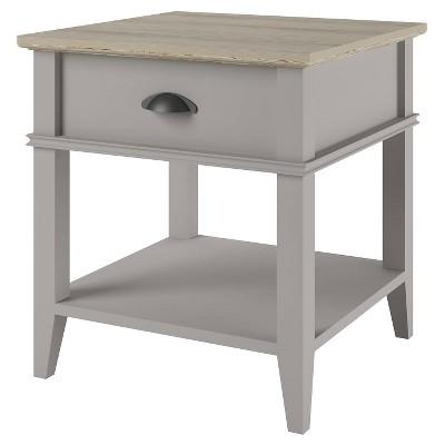 Newport End Table with Drawer - Sharkey Grey/Laguna Oak - Ameriwood Home