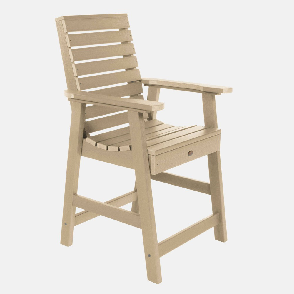 Image of Weatherly Counter Patio Armchair Tuscan Taupe - Highwood