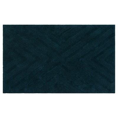 Textured Pattern Bath Rug Dark Green - Project 62™ + Nate Berkus™
