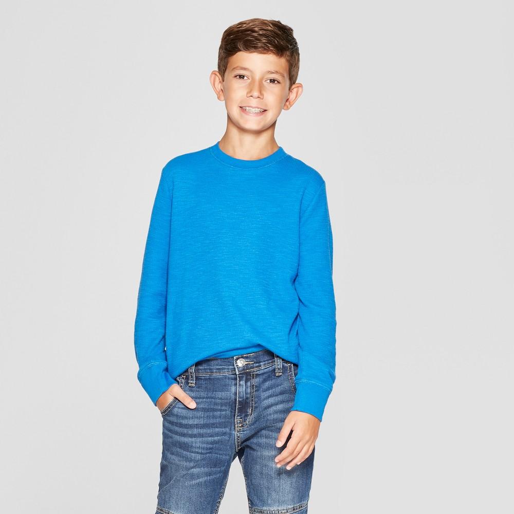 Boys' Thermal Long Sleeve T-Shirt - Cat & Jack Blue XS