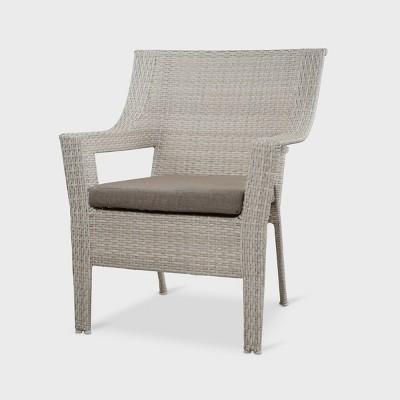 southcrest wicker patio stack club chair gray threshold target rh target com gray wicker patio chairs